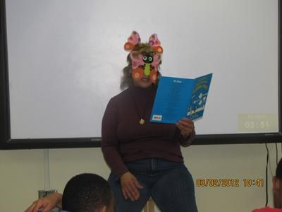 Verdaillia Turner, AFT President participates in Read Across America at Dunbar Elementary School